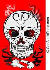 skull design tattoo