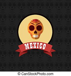 mexican culture related icons image