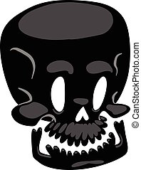 Skull face illustration isolated on white background.