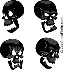 Skull face illustration isolated on white background. -...