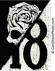 Skull fashion poster design