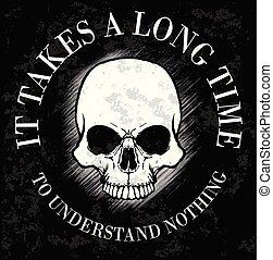 Skull Fashion Tee Graphic Design