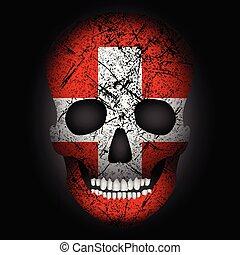 Skull flag Switzerland
