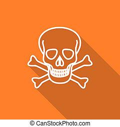 skull flat design modern icon