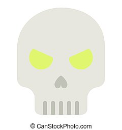 Skull flat icon, halloween and scary, dead sign vector graphics, a colorful solid pattern on a white background, eps 10.