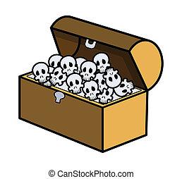 Skull Full of Trunk - Vector