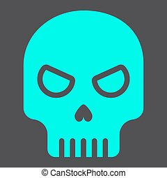 Skull glyph icon, halloween and scary, dead sign vector graphics, a solid pattern on a black background, eps 10.