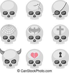 skull gray