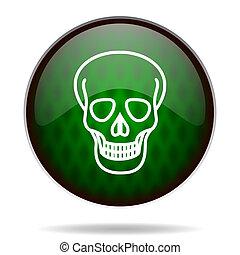 skull green internet icon