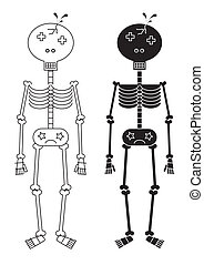 skull guy - skull bloody guy