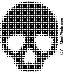 Skull Halftone Dotted Icon