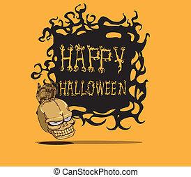 skull., halloween, monstre