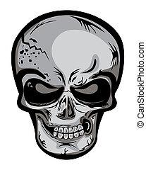 Skull head - Illustration vector