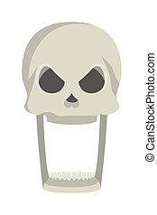 skull head halloween isolated icon