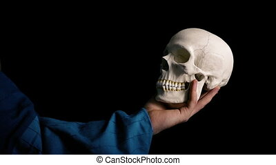 Skull Held Out - Theater Acting Concept - 2 Versions - Actor...