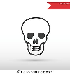 Skull Icon. Danger concept.
