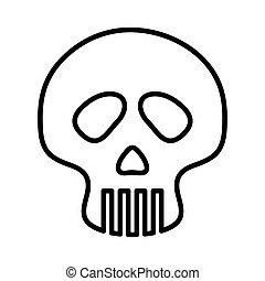 Skull icon. Dead design. vector graphic