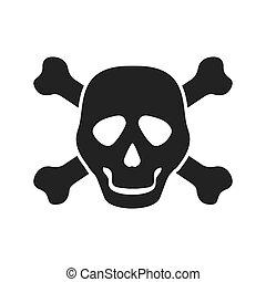 Skull icon. Death design. Vector graphic