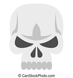 Skull icon, flat style