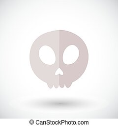 Skull icon. Flat vector illustration