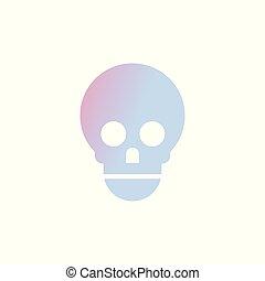 skull icon human anatomy healthcare medical concept white...