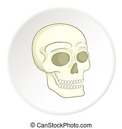 Skull icon, isometric style