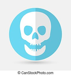 Skull icon on a white background