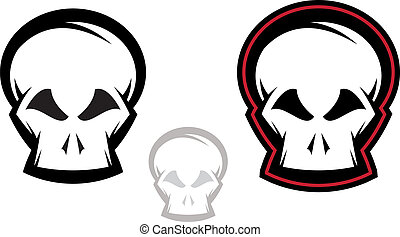 Skull Icon Set - Various versions of detailed skull...