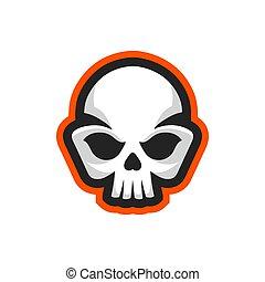 Skull icon. Skull logo design template