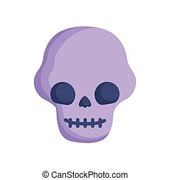 skull icon trick or treat happy halloween
