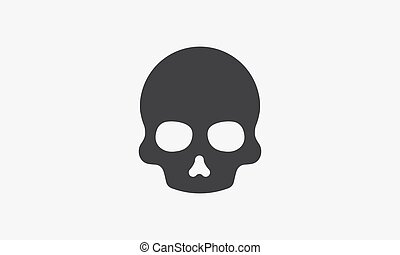 skull icon. vector illustration. isolated on white background.