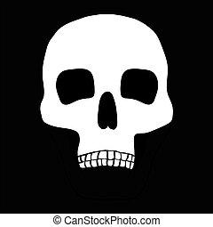 skull., illustration, humain