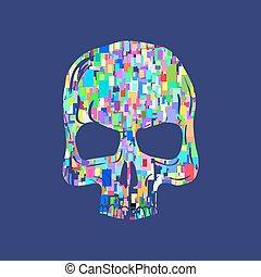 Skull illustration, t-shirt graphics, vector