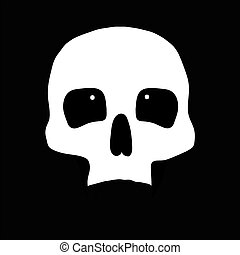 skull., ilustração, human
