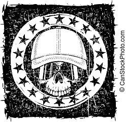 skull in cap