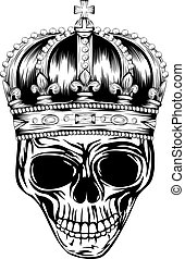 skull in crown - Vector illustration skulls with crowns