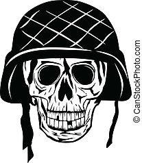 skull in halmet