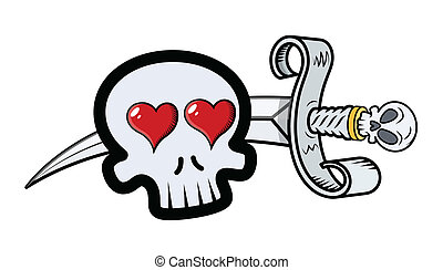 Skull in Love with Sword