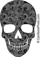 Skull Line Art Pattern