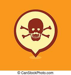 Skull location icon