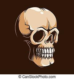 Skull monster in vintage style