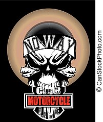 Skull Motorcycle Club Graphic Design T-shirt Graphics/skull print/skull illustration/evil skull/concert posters/rock and roll themed graphic/angel of death/rebel skull/graphic posters/canvas print