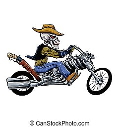 skull motorcycle - skull ride a big motorcycle