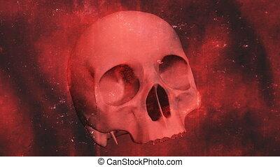Skull No Teeth Grunge Loop