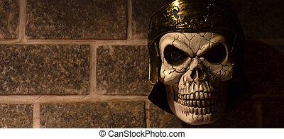 Skull of a Roman soldier