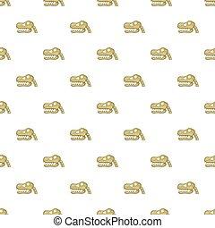 Skull of dinosaur pattern, cartoon style