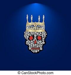 Skull of precious stones 2