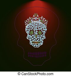 Skull of precious stones 3.eps