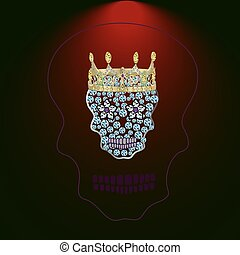 Skull of precious stones 4.eps (