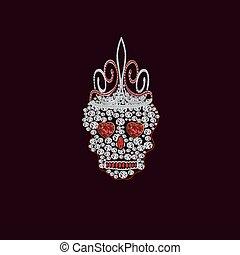 Skull of precious stones 5.eps